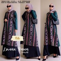 Baju Atasan Wanita Blouse Muslim Lovana Tenun LongTunik