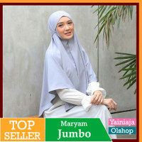 Jilbab Instan kerudung Hijab Syari BERGO Maryam jumbo hijab instan - Abu Muda