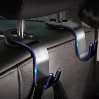 gantungan tas jok mobil car hook hanger holder seat headrest organizer