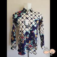 Baju Batik Pria / Laki-Laki FELIXIVAN [Code : 09043] - Biru, M