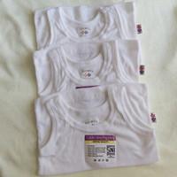 Kaos Dalam Bayi New Born Libby 3 pcs / Singlet Bayi / Kaos Kutang Bayi