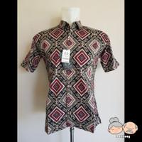 Baju Batik Pria / Laki-Laki FELIXIVAN [Code : 09039] - Hitam-Merah, M