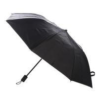 Payung Lipat Dua Polos Lapis Silver Anti UV - Hijau