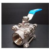 Ball valve SANKYO 3PC drat 3(inch) Stop kran air type 3pc SS316