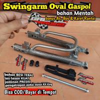 ARM OVAL RX KING SWINGARM SAPIT URANG LENGAN AYUN BESI TEBAL FULL SET
