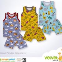 pakaian baju singlet kutung bayi ana velvet junior zootopia xxl