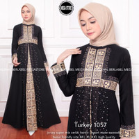 NEW TURKEY 1057 GAMIS LONGDRESS ABAYA WANITA MODERN KONDANGAN PESTA