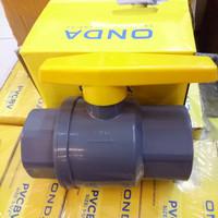 Ball valve stop keran pvc onda 1 1/2 inch PVCBV ONDA
