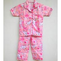 Setelan Piyama Baju Tidur Anak Perempuan Gambar Hello Kitty 7-9 Tahun