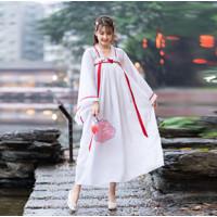 CC-129 hanfu unisex wanita baju tradisional cina han kimono kostum
