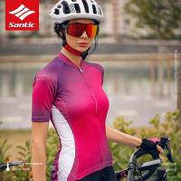 Baju Sepeda Wanita Santic - Women Cycling Jersey Zimo Ungu WL0C02160Z
