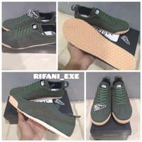 Sepatu Sneakers Onitsuka Asics Tiger Green Brown Best Import Quality