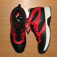 SEPATU BASKET PIERO BLACK RED