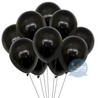 [10 pcs] Balon Hitam / Balon Metalik Hitam / Balon Latex / Balon Murah