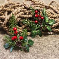 Bunga Tusuk Ponsetia Cherry Daun Natal Hiasan Parcel Kado Natal Murah