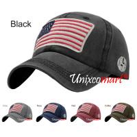 America Flag Topi Baseball Hat Cap Casual Sport Distro Vintage Dewasa