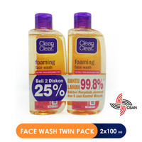 Clean & Clear Foaming Facial Wash 100ML (TWIN PACK)