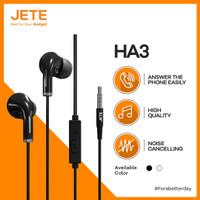 Earphone | Headphone | Handsfree JETE HA3 with Audio Power Bass