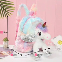 Tas ransel boneka unicorn/kado ulang tahun anak perempuan/Tas Tk impor
