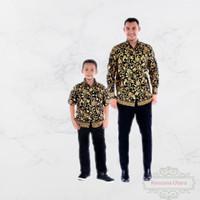 couple batik ayah sama anak laki baju kemeja dan hem ayah dan hem anak