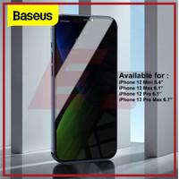 BASEUS SCREEN PROTECTOR ANTI SPY IPHONE 12 MINI PRO MAX TEMPERED GLASS - 12 MINI 5.4, ANTI SPY