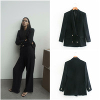 BLAZER WANITA FORMAL OVERSIZED WARNA HITAM IMPORT PREMIUM