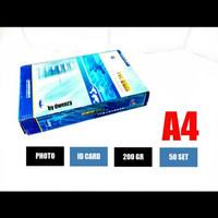 bahan id card/kertas pvc isi 50set A4