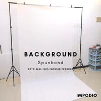 Background spunbond putih backdropfoto Ukuran 1.6m x 3m Impodio-PERMTR