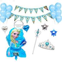 Paket Dekorasi Balon Ulang Tahun / Happy Birthday Tema Frozen 02