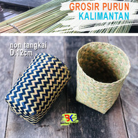 Bakul Cover Pot Purun, D.12cm - Non Tangkai