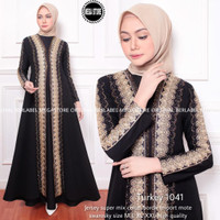 NEW TURKEY 1041 GAMIS LONGDRESS ABAYA WANITA MODERN KONDANGAN PESTA