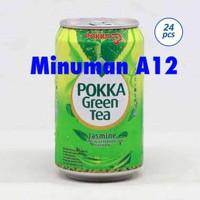 Pokka jasmine green tea (kaleng)