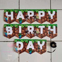 Banner Bunting Flag Happy Birthday HBD Minecraft