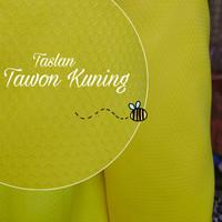 bahan kain tawon motif hexagonal kuning taslan nylon yard gulungan