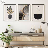 Lukisan Dinding Set - Wall Art - Art Print - Black Gold Plantation