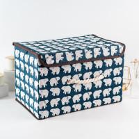 ARAMI Canvas Stackable Storage Box Keranjang Baju Mainan Multi Fungsi
