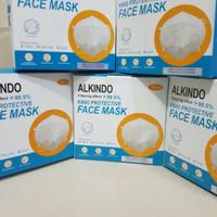 Masker KN95 Alkindo / Mask KN 95 /5 ply (5 lapis) 1 Box isi 10 pcs