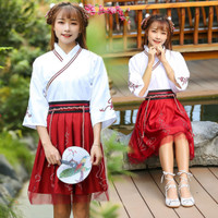 CC-132 hanfu unisex wanita baju tradisional cina han kostum cosplay