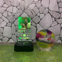 LED SPOTIFY SONG BARCODE Piala Trophy custom unik murah akrilik print