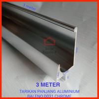 Tarikan Panjang Aluminium Silver / Profil Lis Frame Handle Kitchen Set
