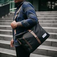 Crown X Arcio Timo Black - Messenger bag tas pria original lokal