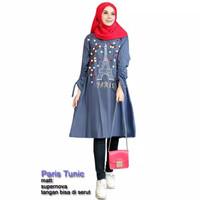 DF 63204 PARIS TUNIC Baju Fashion Busana Wanita Model Terbaru,Terkini