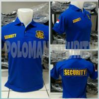 kaos security. baju satpam blue . kaos polo shirt security