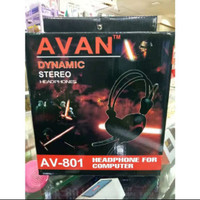 PROMO!! Extra Bass Headset AVAN AV 801 Dynamic Stereo Headset