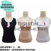 Kaos Dalam Wanita / Tanktop MIRANDA | HITAM , PUTIH , CREAM