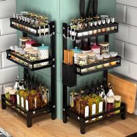 Rak Bumbu Dapur Botol Spice Rack Multifungsi Stainless Anti Karat - 2 Tingkat