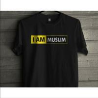 KAOS BAJU PRIA WANITA I AM MUSLIM KAOS MUSLIM KAOS ISLAM KAOS HIJRAH
