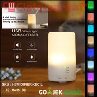 Air Humidifier Diffuser 125ml + Lampu Tidur RGB 7 Warna Aroma Terapi