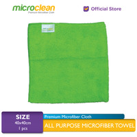 [Harga GROSIR] Lap Microfiber Cleaning Cloth size 40x40 - Green