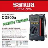 MULTITESTER SANWA DIGITAL CD800 AVOMETER MULTI METER CD 800